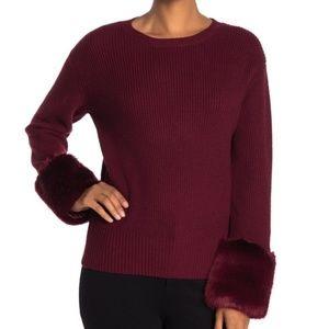 Love Token Women's Pullover Sweater Burgundy